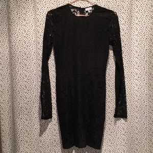 Tobi M lace LBD black dress holiday party